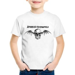 4be9a8fbb384 Avenged Sevenfold Skull Printed Children Fashion T-shirts Kids Cool Summer T  shirt Boys Girls Casual Tops Baby Clothes