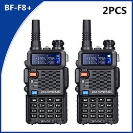 Radio vhf uhf caR online shopping - 2PCS Baofeng BF F8 UHF VHF Walkie Talkie KM With PTT Earphone Portable Handheld Hotel CB Car Radio Station Ham HF Transceiver