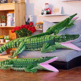 $enCountryForm.capitalKeyWord Australia - Alligator Stuffed Animal Crocodile Plush Toy Large Big Realistic Stuffed Child Pillow Cushion Soft Cuddly Figures for Kids Girl Boys
