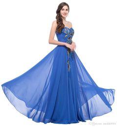 Грейс плюс размер платья выпускного вечера шифон Элегантное скромное длинное платье павлина Homecoming торжественная одежда темно-синие платья на Распродаже