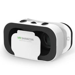 GooGle cardboard lenses online shopping - Casque Headset VR Shinecon Virtual Reality Glasses D Helmet D Google Cardboard For Smartphone Goggles Mobile Lens