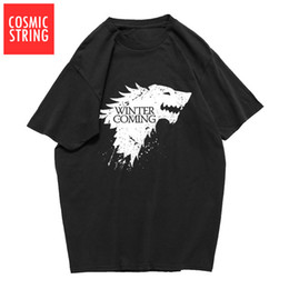 c3952e132 2019 men s designer clothing tshirt cotton summer loose game of thrones men  T shirt casual cool winter is coming tshirt male t-shirt