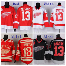 pavel datsyuk jersey cheap Australia - Discount Cheap 2016 Winter Pavel Datsyuk Detroit Red Wings Hockey Jerseys #13 Pavel Datsyuk Jersey Red Color Stitched Jerseys