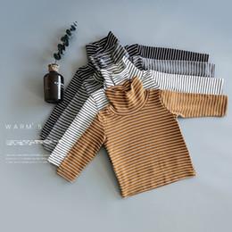 Kid Green Striped Shirt Australia - Kids T-shirts Boys Clothes Bobo Choses Autumn Striped Girls Cotton Basic Long Sleeve T Shirt Casual Tops Tees Children Clothing