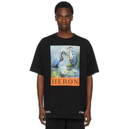 Sh Fashion UK - New York Fashion tshirts High Quality Chinese Style shirt Heron Preston Men Women Street Luxury Cotton Hoody Casual Sleeved T-Shirt free sh