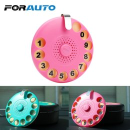 old style cars 2019 - FORAUTO Car Temporary Parking Card Car Fragrance Mobile Phone Number Card Styling Old-style Telephone Shape Air Freshene