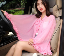 tartan clothes wholesale NZ - Summer new car cycling flannelette cape cape suntan clothing ladies solid color sunshade cape manufacturers