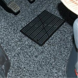 car floor mat foot pad UK - 1Pcs Universal Black 23x15cm PVC Car Floor Carpet Pad Heel Foot Mat Pedal Patch Tire Cover Anti-skid Pedals Accessories