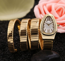 Luxury Women Watch Snake Australia - 2019 serpenti snake watches luxury women dress watches bracelet quartz vintage for lady model 2