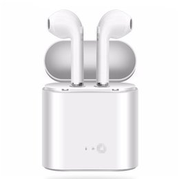 earphone for samsung galaxy UK - i7 i7s with Charge Box BHT I8 Mini Wireless Earphones Bluetooth 4.1 Earbuds Stereo Headset For iPhone X Galaxy S8 with Package