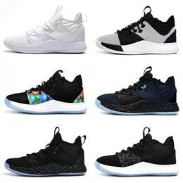 New Paul George Shoes NZ - 2019 New Paul George 3 BHM Black History Month Collection Mens Casual Shoes PG 3 Pure Platinum Metallic Gold Men Casual Shoes