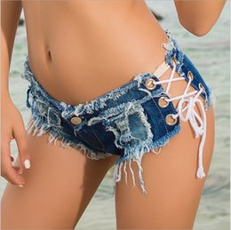 low waist sexy girls jeans Australia - New Summer Trendy Jeans Shorts Hot Pants Night Club Low-waist Sexy Trousers Shorts Girls Student Holiday Beach Hot Pants