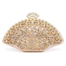 Crystal designer evening bags online shopping - Luxury Designer Women Evening Bag Fashion Golden Metal Crystal Women Evening Bag Clutch Handbag Ladies Wedding Bridal Party
