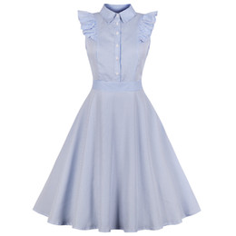 bef1472cd7cbad Wipalo Women 1960s Hepburn Swing Rockabilly Vintage Dress Plus Size Stripe  Ruffles Retro Dress Spring Summer Party Vestidos 4XL