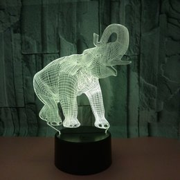 $enCountryForm.capitalKeyWord Australia - New Pattern Elephant 3d Small Night-light Colorful Touch Led Vision Lamp Gift Atmosphere Led Three-dimensional Desk Lamp