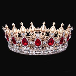 Bridesmaids Hair Australia - Tiaras And Crowns Queen King Bride Tiara Crown Headdress Crystal Diadem Prom Bridesmaid Wedding Hair Jewelry Bridal Accessories Y19051302
