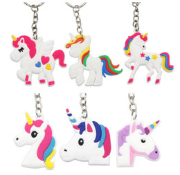 Cellphone Keys Australia - Unicorn Keychain Keyring Cellphone Charms Handbag Pendant Kids Gift Toys Phone Decoration Accessory Horse Key Ring
