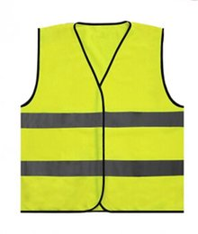 safety work clothing NZ - France Reflective Vest Outdoor Warning Reflective parade Vests Visibility Working Traffic Vest Yellow Safety Clothing Apparel GGA1918