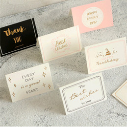 $enCountryForm.capitalKeyWord Australia - Bronzing Greeting Card with Envelopes Invitation Wedding Thanks Birthday Card Paper Gift Wedding Thank You Cards