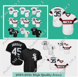 0fb89f44 Men's Chicago White Sox 72 Carlton Fisk jersey #45 35 Frank Thomas 10 Yoan  Moncada 79 Jose Abreu 8 Jackson Jerseys Top quality