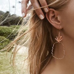$enCountryForm.capitalKeyWord Australia - Fashion Pineapple Fruit Pendant Personality Street Style Wind Earrings Alloy Geometric Earrings Manufacturing Price Wholesale Jewelry