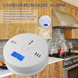 CO Gas Sensor Detector Carbon Monoxide Poisoning Alarm Detector LCD Photoelectric Independent 85dB Warning High Sensitive on Sale