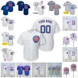 315c179ec97 Custom 2019 Cubs Jersey Chicago #44 Anthony Rizzo 51 Duane Underwood Jr. 62  Jose Quintana Blank no name no number Jersey Men Women Youth