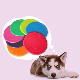 Silicone Toys Australia - Pet Dog Bite Resistant Frisbee Disk Soft Silicone Flying Disc Pet Toy Training Silicone 7 Color Selection DHL Free Shipping