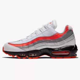 4e1543f6c1 Designer 95 Essential Running Shoes for Mens Trainers 95s OG Premium Triple  Black White Orange Man Sports Sneakers Scarpe Zapatillas 40-46