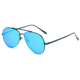 $enCountryForm.capitalKeyWord Australia - Men's new fashion pilot polarized sunglasses women's metal frame mirror driver sunglasses brand designer men and women fashion frog mirror