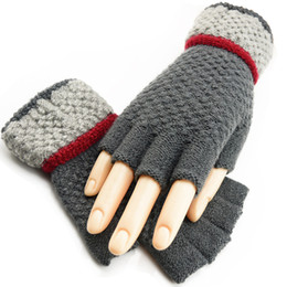 Warmest Gloves Australia - Colorful Unisexy Fingerless Fitness Gloves Warm outdoor Fingerless Knitted Gloves For Winter Autumn Spring DHL Free 200pcs