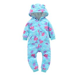 $enCountryForm.capitalKeyWord Australia - 2019 hot selling fashional design kids winter fleece rompers baby boys ears hooded jumpsuits girls long-sleeved toddler winter fleece romper