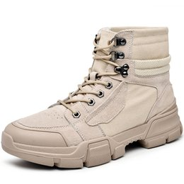 Army combAt boots online shopping - Boots Men Army Safety Mens Shoes Winter Leather Footwear Combat Shoe Man Causal Tactical Ankle Shose Cowboy Boot Nice