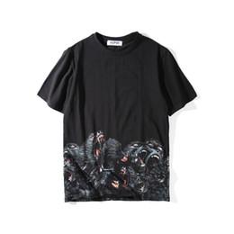 Toptan satış Erkek Stilist Tişörtlü Erkek Giyim 3D Orangutanlar Yaz Tişörtlü Hip Hop Erkekler Kadınlar Kısa Kollu Boyut S-XXL