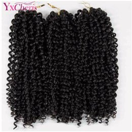 $enCountryForm.capitalKeyWord NZ - 10'' brazilian jerry curl bundles weave Synthetic Braiding hair with Ombre Crochet Braids Hair Extension bulk hair Kanekalon