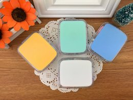 Green Box Containers Australia - solid colour square contact lens case for contact lenses box fashion blue contact lenses container L9018