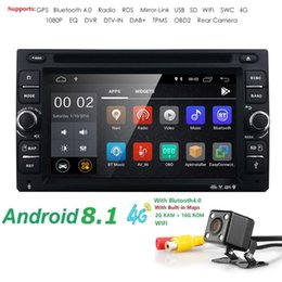 Gps Navigation Dvr Camera Australia - 2G RAM Quad core 2 din android 8.1 universal Car Radio Double DVD Player GPS Navigation 4G wifi DVR BT DAB+ Free Rear camera