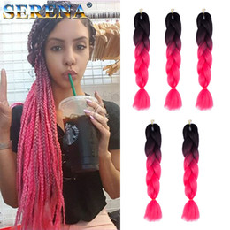 two tone hair xpression braid 2019 - HOT SALE Synthetic Braiding Hair 24inch 100grams two tone colors Xpression Braiding Hair Braid Kanekalon jumbo braid Hai