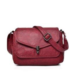 Female Dresses NZ - 2018 Female Leather Messenger Bags Sac A Main Crossbody Bags For Women Vintage Shoulder Bag Bolsas Femininas Designer Handbags