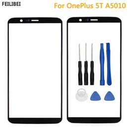 $enCountryForm.capitalKeyWord Australia - Replacement Parts For Oneplus 5T A5010 Front Screen Glass Outer Lens Cover Touch Panel For Oneplus 5T+Tools Black Color