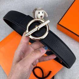 belts NZ - Man Womens Belts Fashion Belt Belts Stylish Smooth Gold Sliver Buckle Optional Width 34mm High Quality with Box