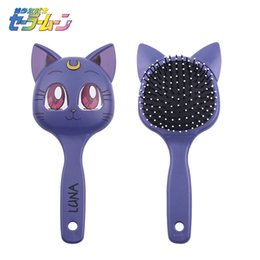 Skin Care Tools New Classic Anime Sailor Moon Luna Big Purple Cat Make Up Mirror Handle Comb Girls Portable Cosplay Cosmetic Mirror Accessories Moderate Cost