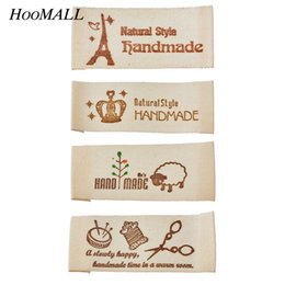 Discount weave labels - IY Apparel Sewing Fabric Garment Hoomall 50PCs Washable Clothing Woven Labels Hand made Labels Garment Tags DIY Sewing A