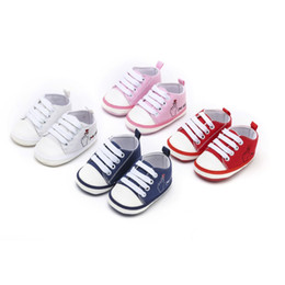 Baby Canvas Shoe Wholesale Australia - Baby Shoes Boy Girl Soft Sole First Walkers Toddler Infant Letter Pattern Casual Canvas Sneaker Forborn