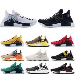 Cheap Racing NZ - Cheap Human race Hu trail x pharrell williams Nerd men running shoes white Equality mens trainers for women sports sneaker size 36-47