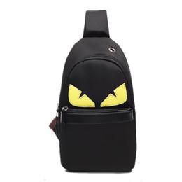 Belt pouches for men online shopping - Designer Messenger Bag Cartoon Little Monster Crossbody Bag Chest Pack Oxford Belt Shoulder Bag For Women Men Sport Storage Pouch PurseC7209