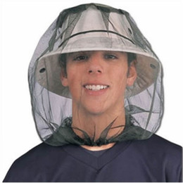 $enCountryForm.capitalKeyWord Australia - 1Pc 45cm x 33cm Protector Midge Bug Camping Hat Face Mesh Mosquito Head Insect HOT Travel Net