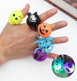 $enCountryForm.capitalKeyWord Australia - 2019 Cute Kids Halloween Glowing Ring Gift Halloween Light Ring LED Gadget Party Finger Lights Shiny Toy Pumpkin Taro Pumpkin Bat Ghost Ring