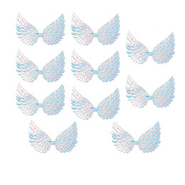 $enCountryForm.capitalKeyWord UK - 15pcs bag 95mm Wings Patches Single Side Iridescent Fairy Cupid Angel Wing Appliques Patches DIY Girls Hair Bows Accessories