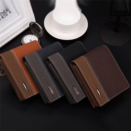 Wholesale Leather Bifold Money Card Holder Wallet Coin Business Purse Clutch Pockets Freeshipping